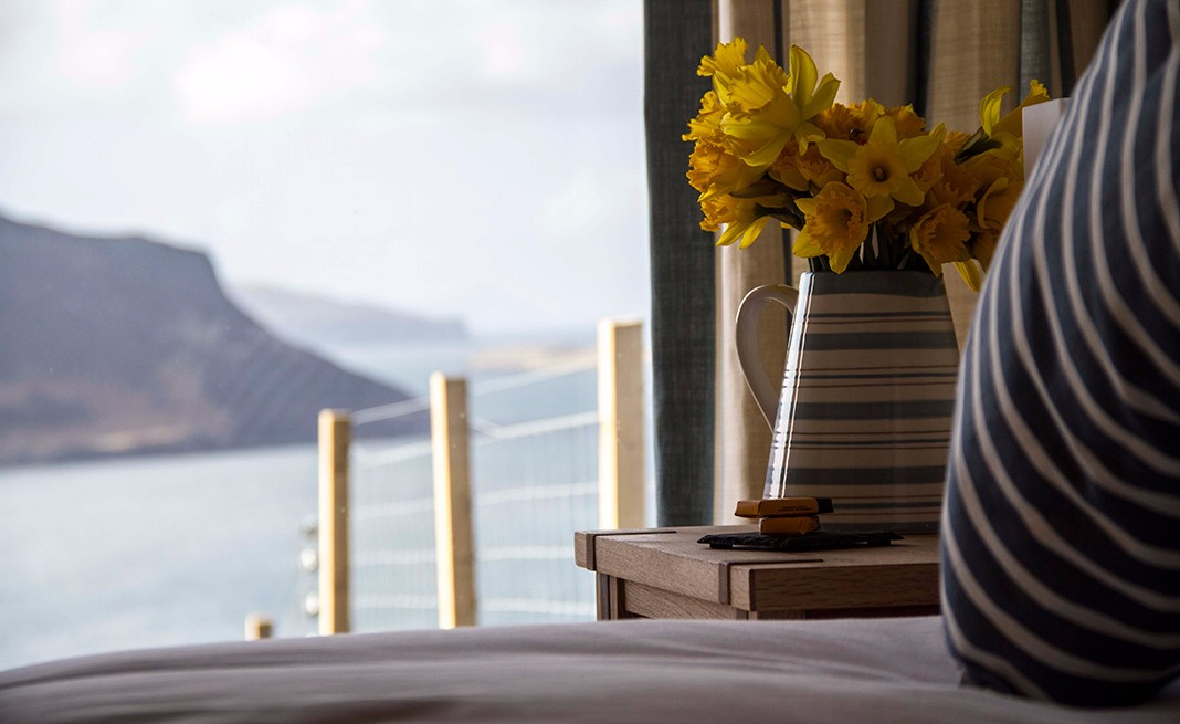 the-lookout-self-catering-accommodation-waternish-skye-daffodils