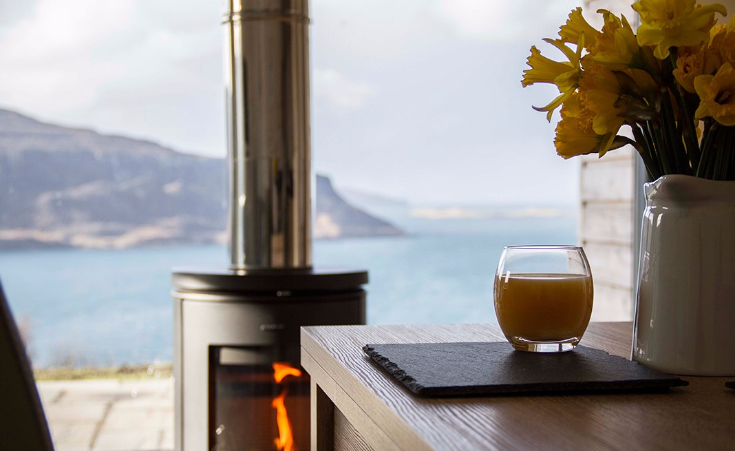 the-lookout-self-catering-accommodation-waternish-skye-stove